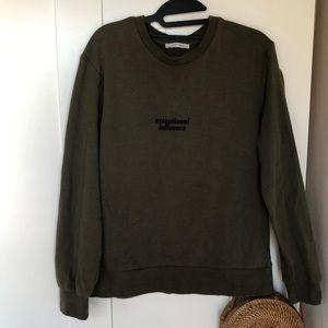 Zara Olive Green sweatshirt, Size Small!